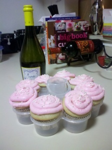 Champagne cupcake